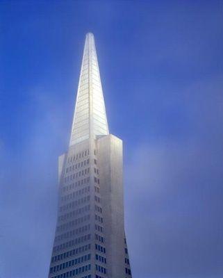 """Transamerica Pyramid in Fog""  San Francisco  • bennetthall • 1995"