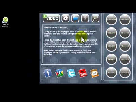 Tutorial on how to convert videos for your Android devices using SoftKlanAndroid Video Converter program (available at http://www.softklan.com).