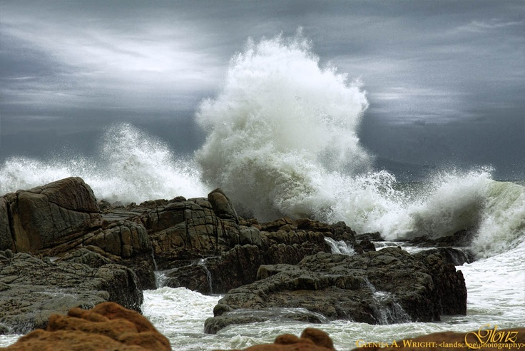 Margate shoreline - South Africa