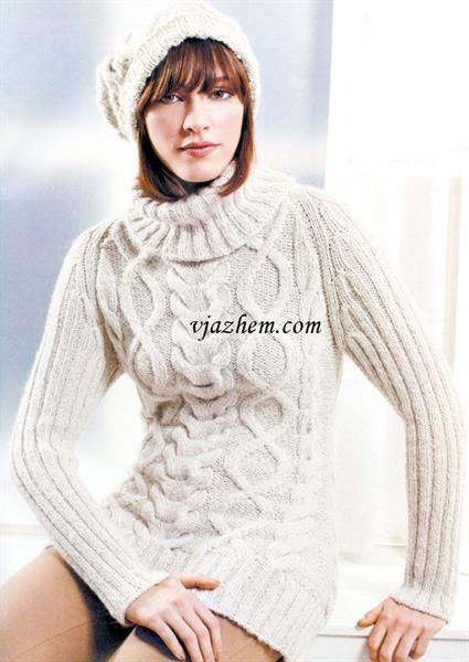 Длинный свитер связать