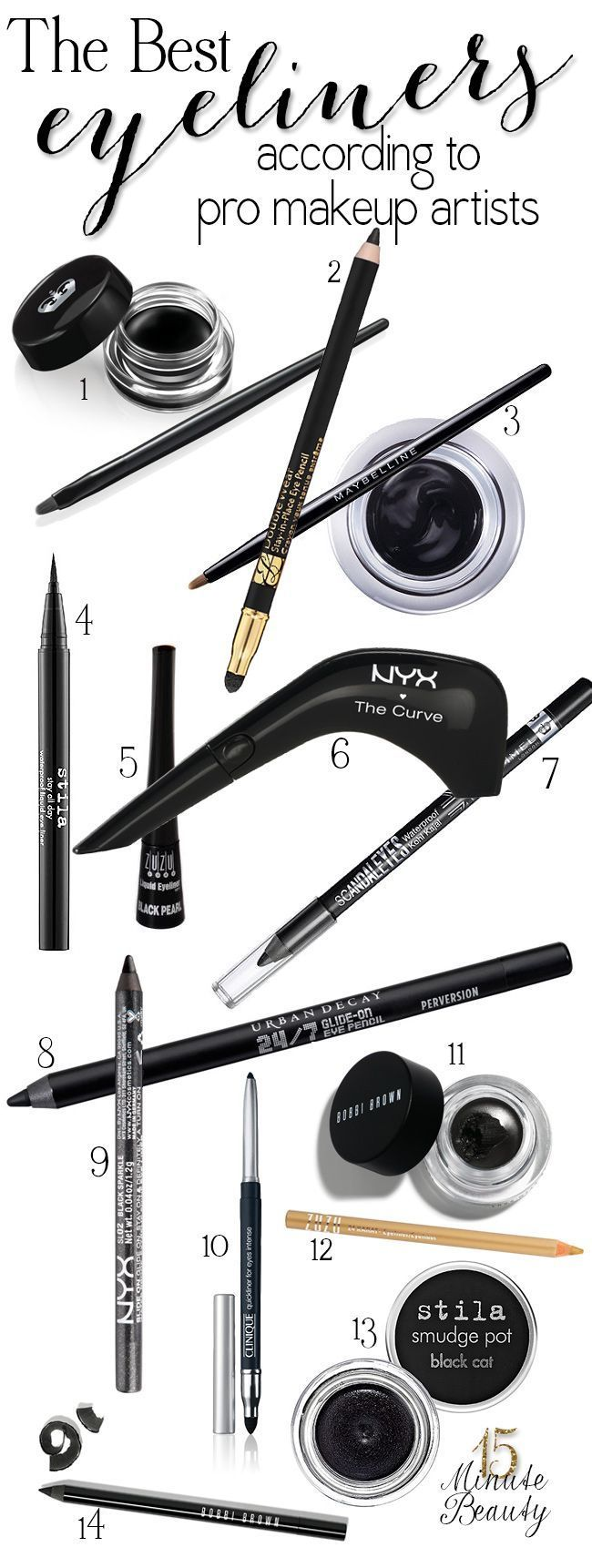 15 Minute Beauty Fanatic: The Best Eyeliners According to Makeup Artists Like this.