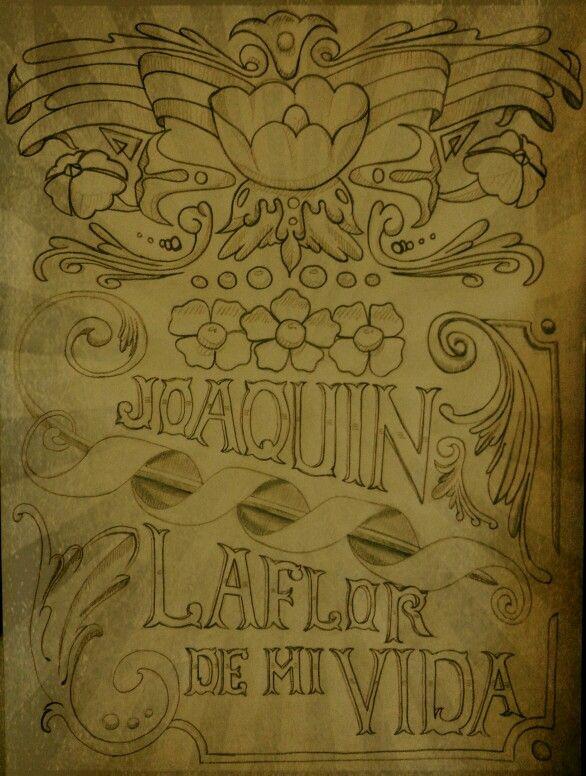Fileteado Joaquín La flor de mi Vida