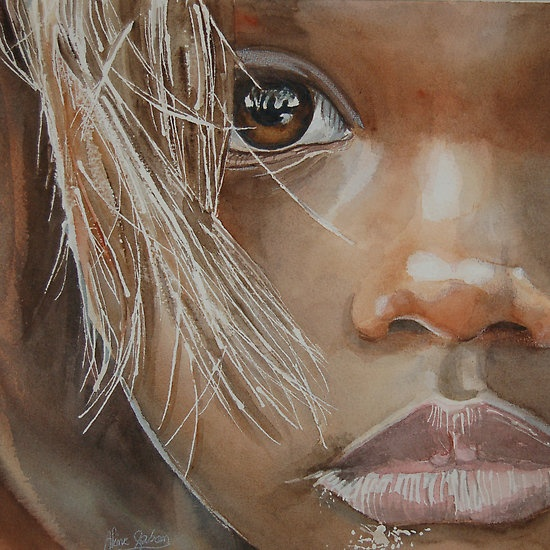 l'oeil aquarelle a beautiful portrait - that is just an incredible work done by another artist.