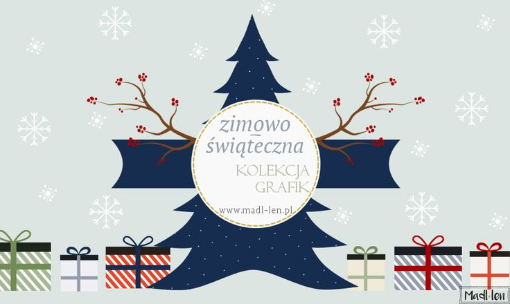 Christmas & winter vector graphics for download. Zimowe grafiki wektorowe do pobrania.