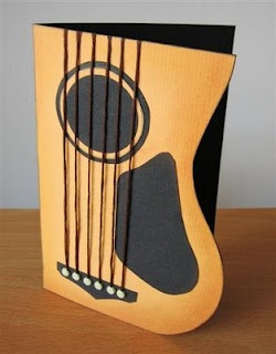 Guitar with strings. Cute card for any musician!                                                                                                                                                                                 More