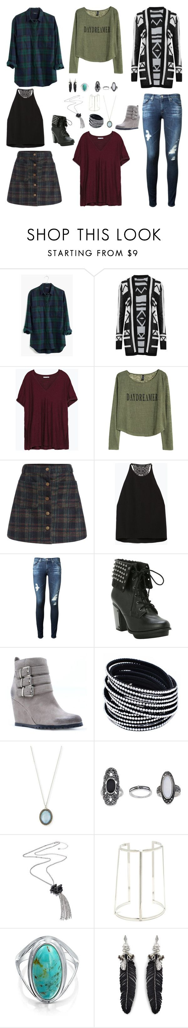 """""""Bella And The Bulldogs - Sophie Inspired Outfits"""" by verostyle16 ❤ liked on Polyvore featuring Madewell, M&S Collection, Zara, H&M, AG Adriano Goldschmied, Qupid, Armenta, Topshop, Bling Jewelry and Rebecca Minkoff"""