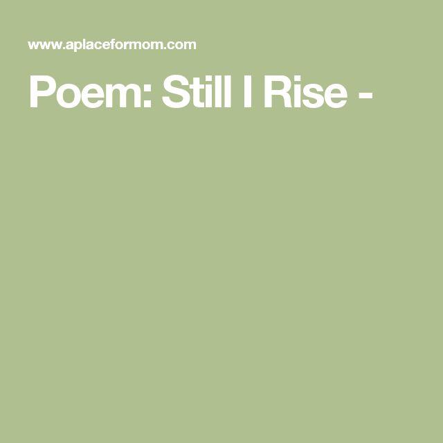 and still i rise maya angelou book pdf