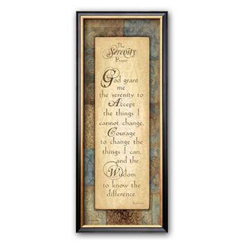 Art.com ''Serenity Prayer'' Framed Art Print by Jo Moulton sale $80.00 regular $100.00