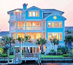 Wrightsville Beach House Al Designer S Own Fabulous Home With 30 Ft Dock On Serene Lagoon