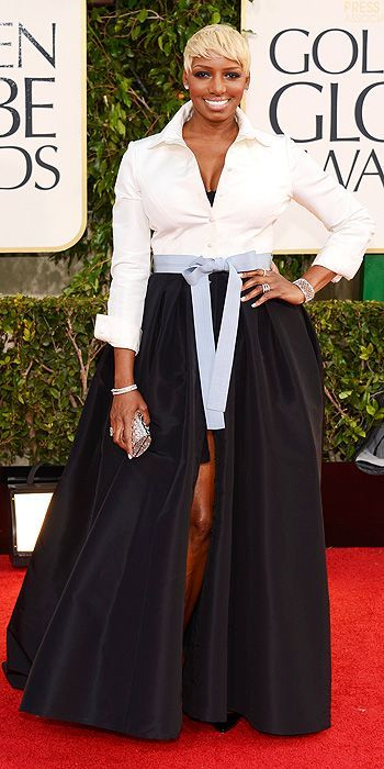 At first, I thought Nene Leakes was a dude in wide-leg pants with his dong hanging out. #goldenglobes