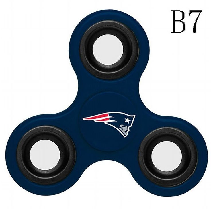 N021 New England Patriots (Red Blue Grey) Fidget Spinner