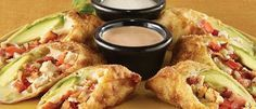 California Pizza Kitchen: Avocado Club Egg Rolls with Ranchito Sauce