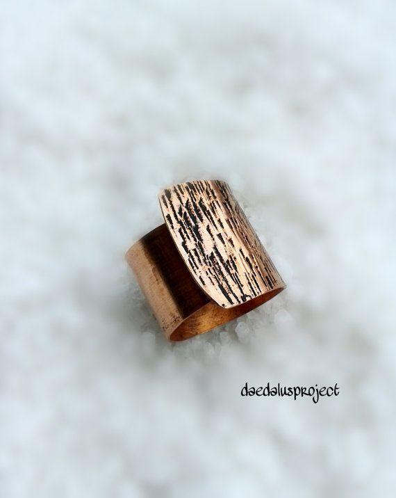 Anillo de rango ajustable anillo de cobre hecho a mano del