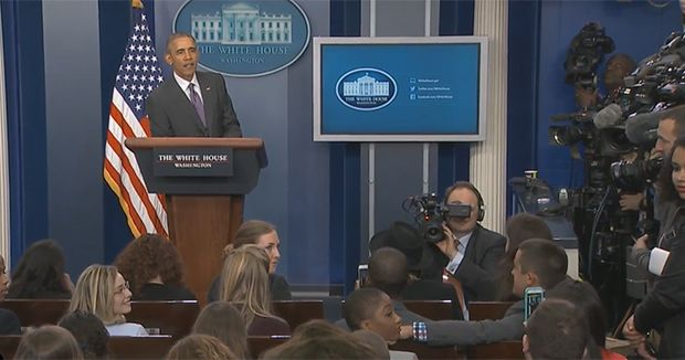"""Obama Grooms Future Journalists: """"Don't Let Me Down"""""""