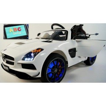 limited led mp4 volume mercedes benz sls amg 12v kids ride on car with rc