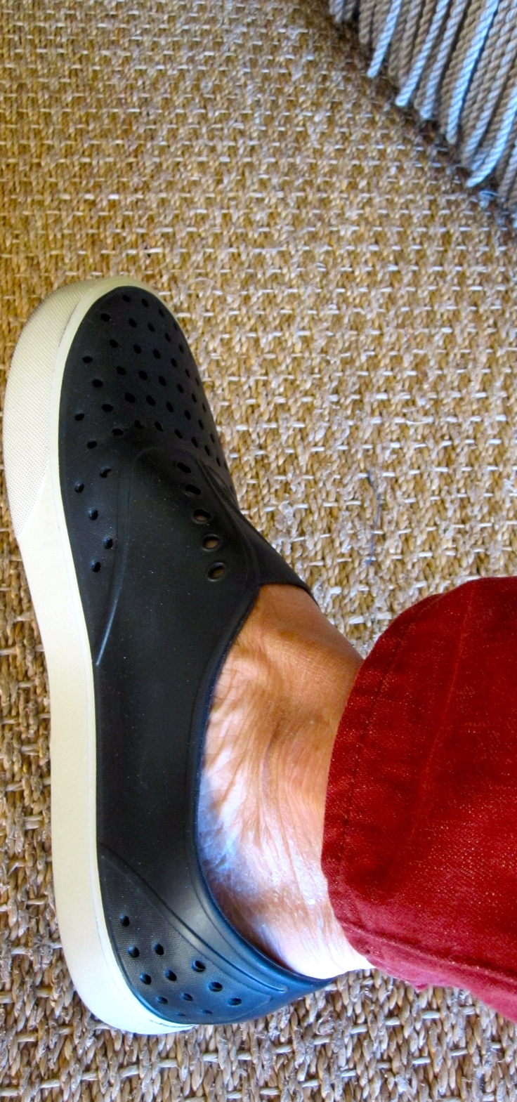 Native brand shoes for summer casual.