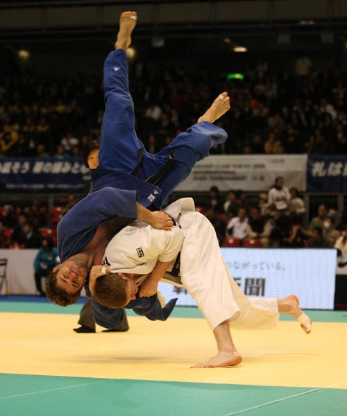 Judo is a modern martial art, combat and Olympic sport. Its most prominent feature is its competitive element, where the objective is to either throw or takedown an opponent to the ground, immobilize or otherwise subdue an opponent with a pin, or force an opponent to submit with a joint lock or a choke.