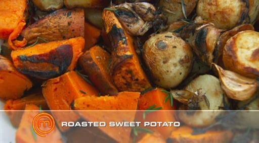 Balsamic sweet potatoes | MasterChef Australia