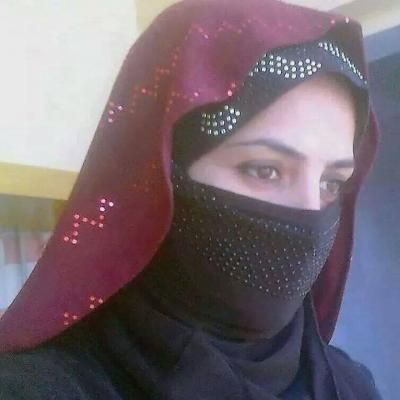 Arab girl in Black Niqab and Brown Dress