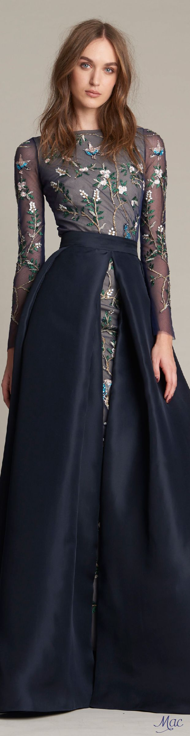 Pre-Fall 2016 Monique Lhuillier women fashion outfit clothing style apparel @roressclothes closet ideas