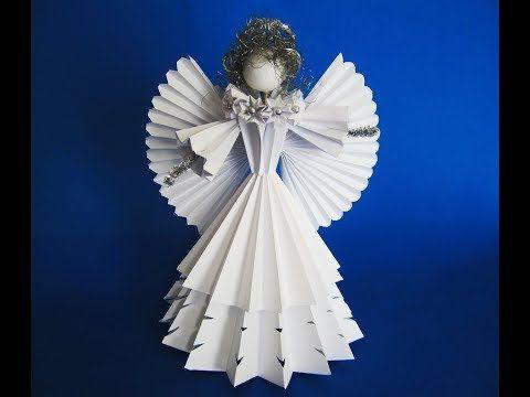 DIY: 3D Engel aus  Papier /  angel of paper - YouTube
