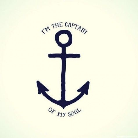 this inspires me to do a song about it or book about it my aunt she is 36 years old and she wants a tatoo just like this i am the captin of my soul. i love it too. its pretty awesome i love anchors.