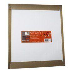 Plaque magnétique effaçable, blanc l.40 x H.50 cm