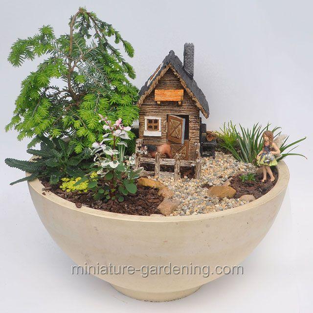 Fairygarden With Horse Stable: #fairyhouses