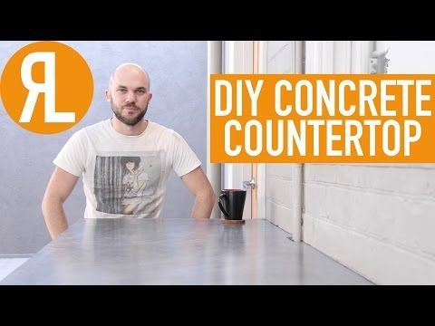 Make Your Own Concrete Countertop, It's Easier Than You Think - YouTube