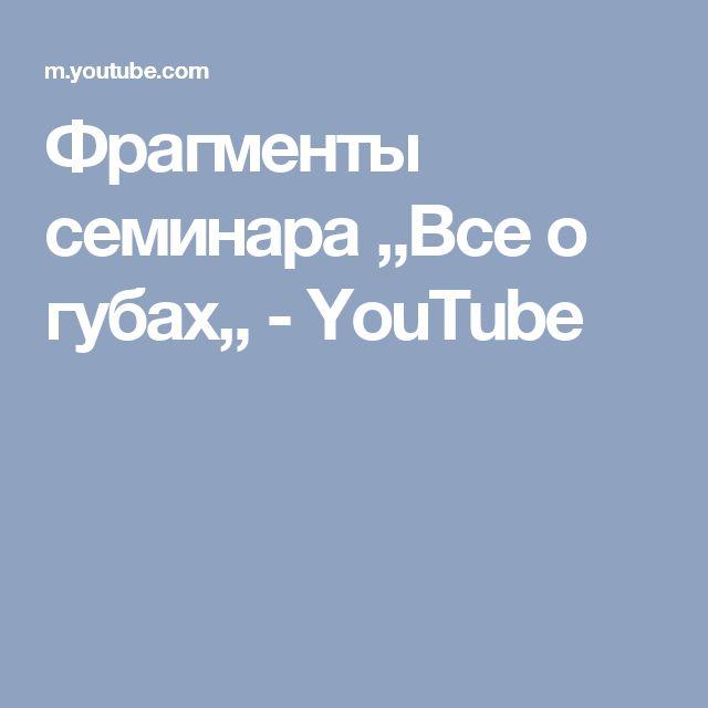 Фрагменты семинара ,,Все о губах,, - YouTube