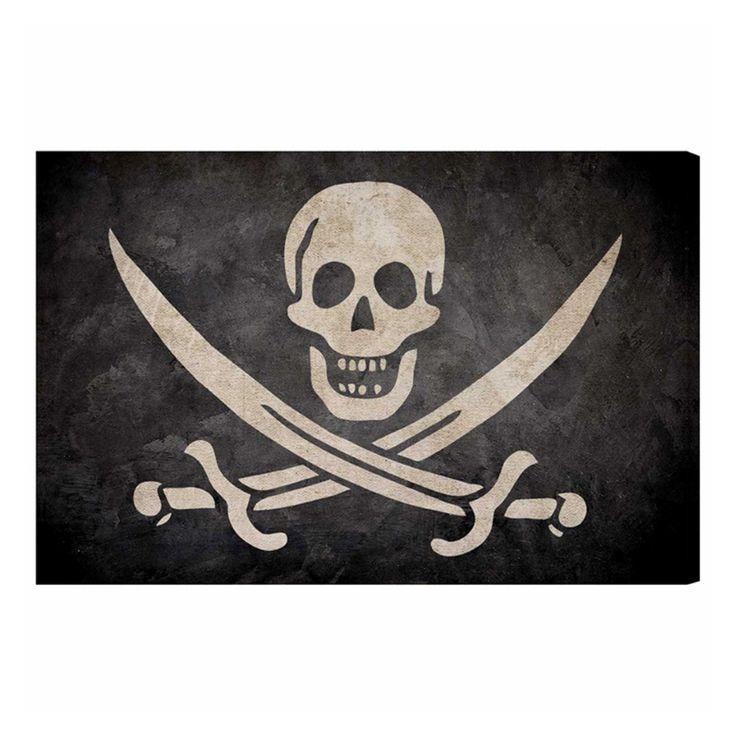 Hatcher & Ethan Jacks Flag Canvas Art - HE15176_24X16_CANV_XHD_HE