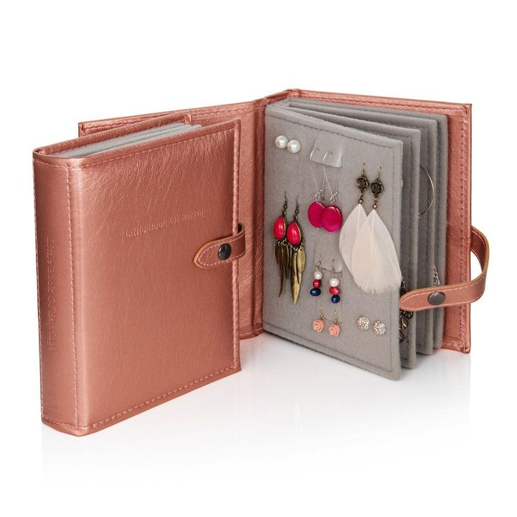 The Little Book Of Earrings Rose Gold Jewellery Storage