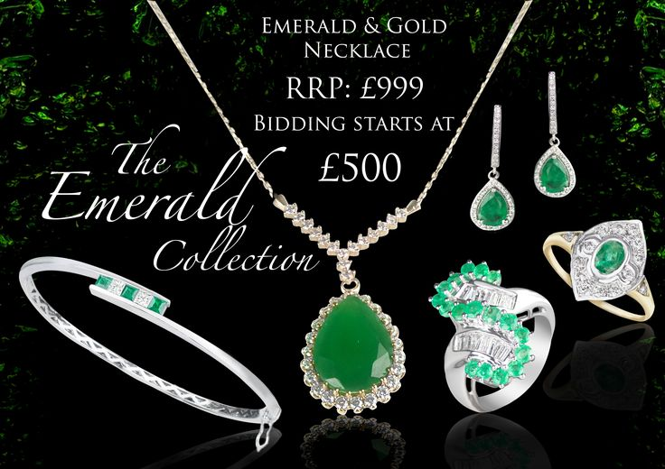 We can't wait to see how this emerald collection does at auction - only 1 day to go!!!