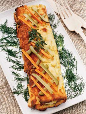 Tronco de puré de patata relleno receta