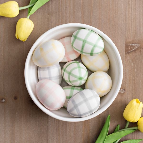 Pastel Gingham Easter Egg Filler Easter Egg Fillers Egg Fillers Easter Eggs