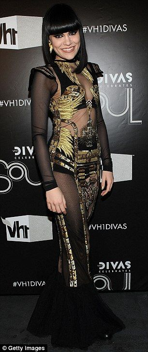 Jessie J in one of three daring outfits at the VH1 Divas Celebrates Soul concert at Hammerstein Ballroom in New York City