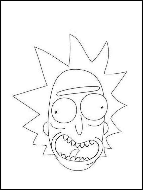 Rick And Morty 6 Printable Coloring Pages For Kids Rick And Morty Drawing Rick And Morty Tattoo Coloring Pages For Kids