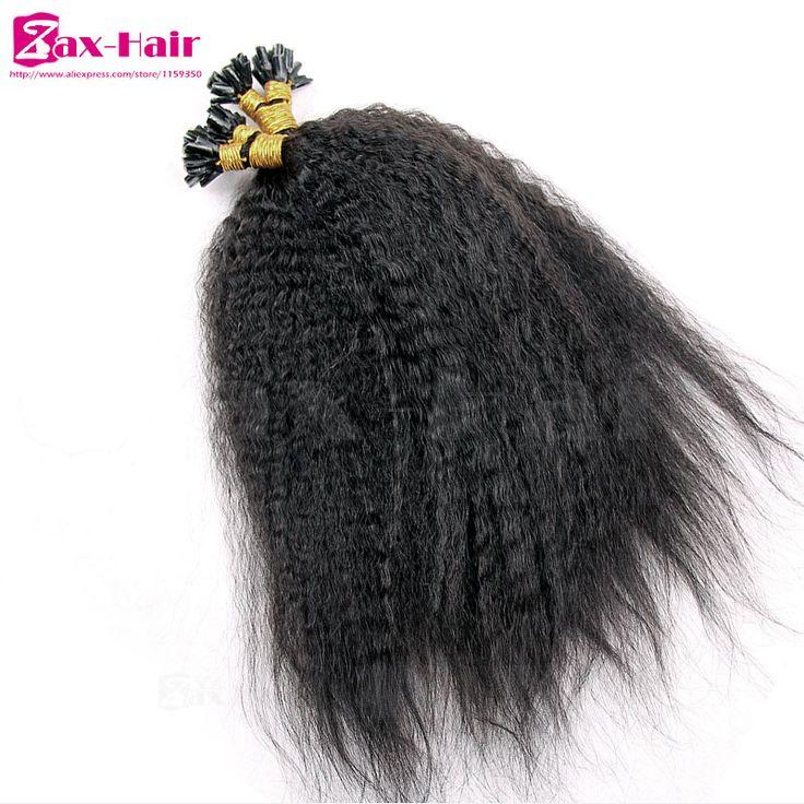 Fusion Hair Extensions Yaki Kinky Straitht Prebonded Remy 1g U I Flat