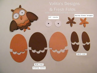 Valitas Designs & Fresh Folds: little punch Owl