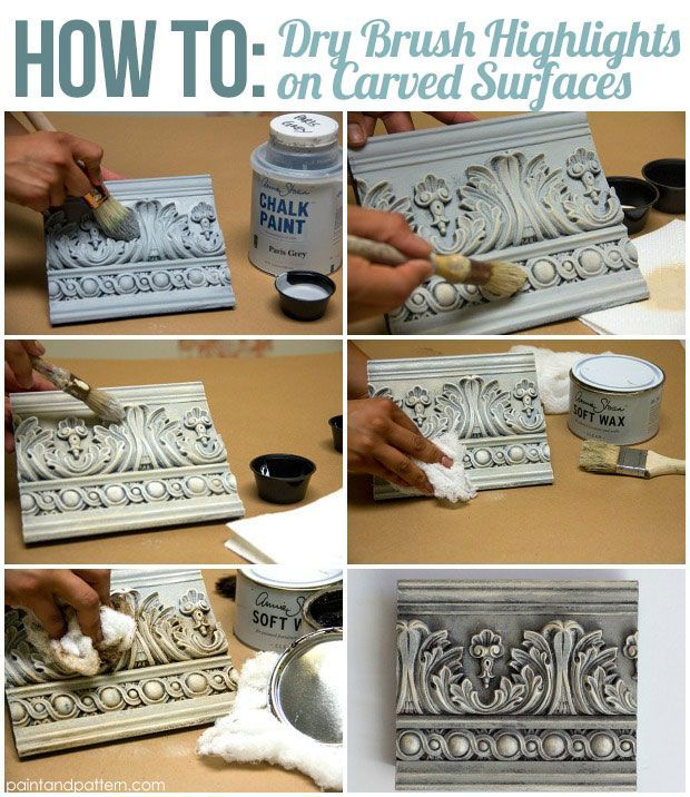 4 Great Chalk Paint Techniques for Carved Surfaces