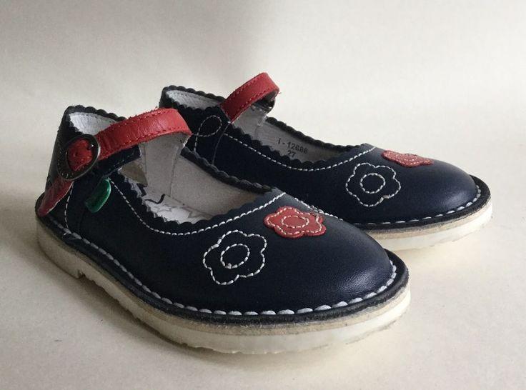KICKERS Adlar Girls Infant Navy Blue Mary Jane Shoe Size UK 9 EU 27    eBay