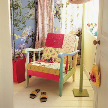 Un fauteuil en patchwork de couleurs - Marie Claire Idées