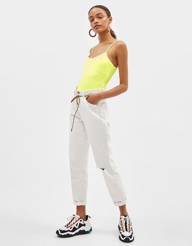 8b853a50124 Strappy neon bodysuit   Bershka #newin #trend #trendy #cool #fashion ...