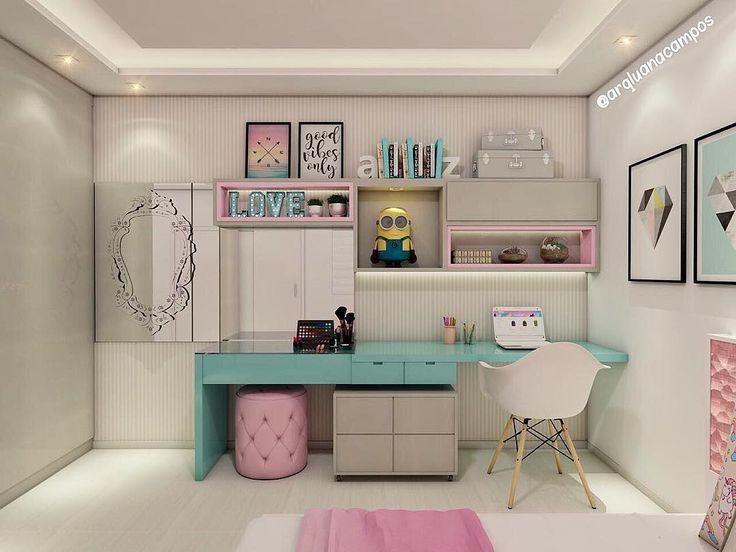 """149 Likes, 4 Comments - IT Arquitetura (@it_arquitetura) on Instagram: """"Um quarto lindo e delicado para uma menina. O uso da madeira sempre deixa o ambiente mais…"""""""