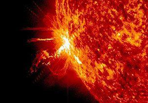 Image: A solar flare erupting in June (© Goddard Space Flight Center/AP)