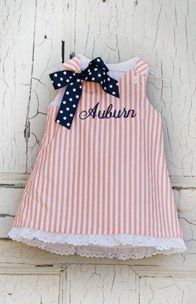 Auburn Girls Dress Size 3 by jordancampbell on Etsy, $35.00