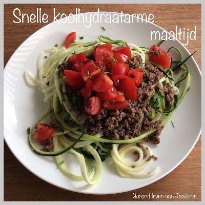Courgettepasta met gehakt en tomaat