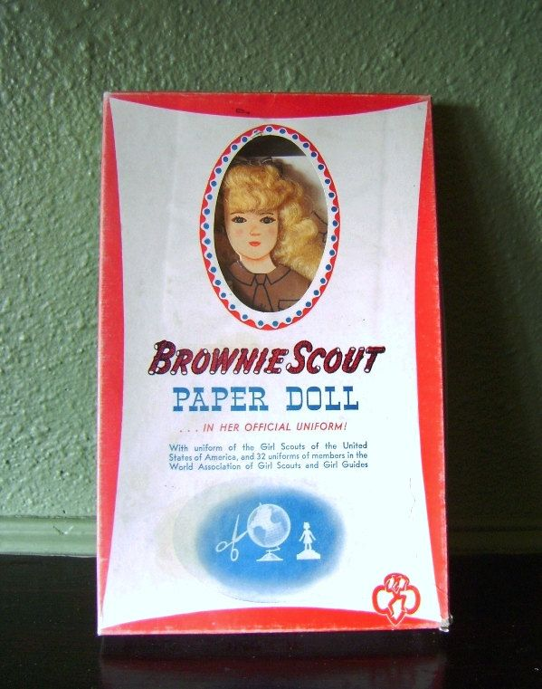 Vintage Brownie Scout Paper Doll Kit 1940s International Uniforms Midcentury Toy Girl Scouts De Journette by CrookedHouseBooks on Etsy