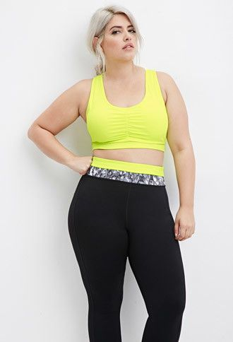 Plus Size Laddered-Cutout Sports Bra | Forever 21 PLUS - 2000161322