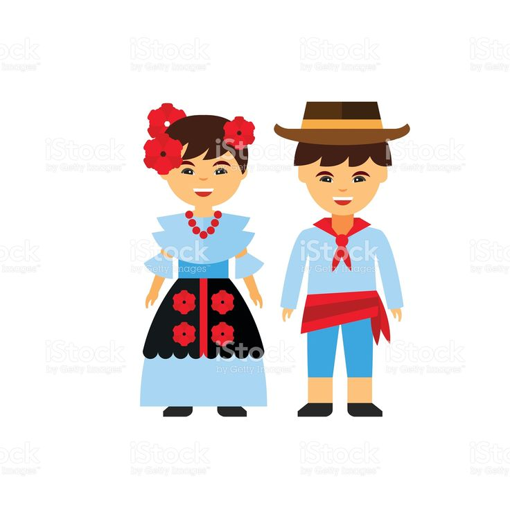 Colombians in national dress